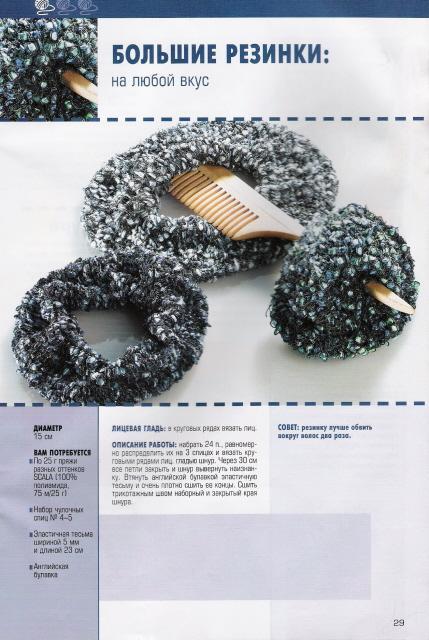 Виды резинок для вязания спицами